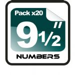 "9.5"" Race Numbers - 20 pack"